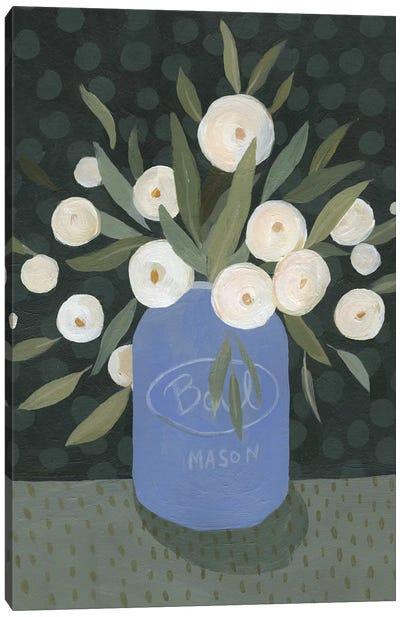 Mason Jar Bouquet II Canvas Art Print