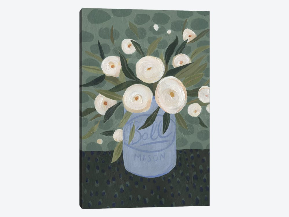 Mason Jar Bouquet III by Emma Scarvey 1-piece Canvas Print