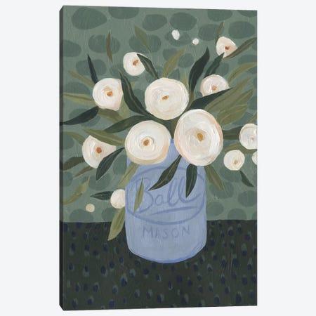 Mason Jar Bouquet III Canvas Print #EMS65} by Emma Scarvey Canvas Art