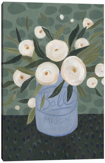 Mason Jar Bouquet III Canvas Art Print