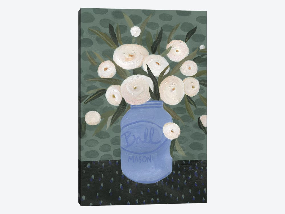Mason Jar Bouquet IV by Emma Scarvey 1-piece Canvas Art