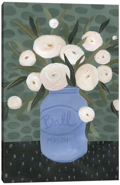 Mason Jar Bouquet IV Canvas Art Print
