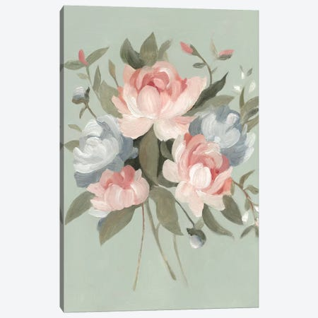 Pastel Bouquet I Canvas Print #EMS70} by Emma Scarvey Canvas Artwork