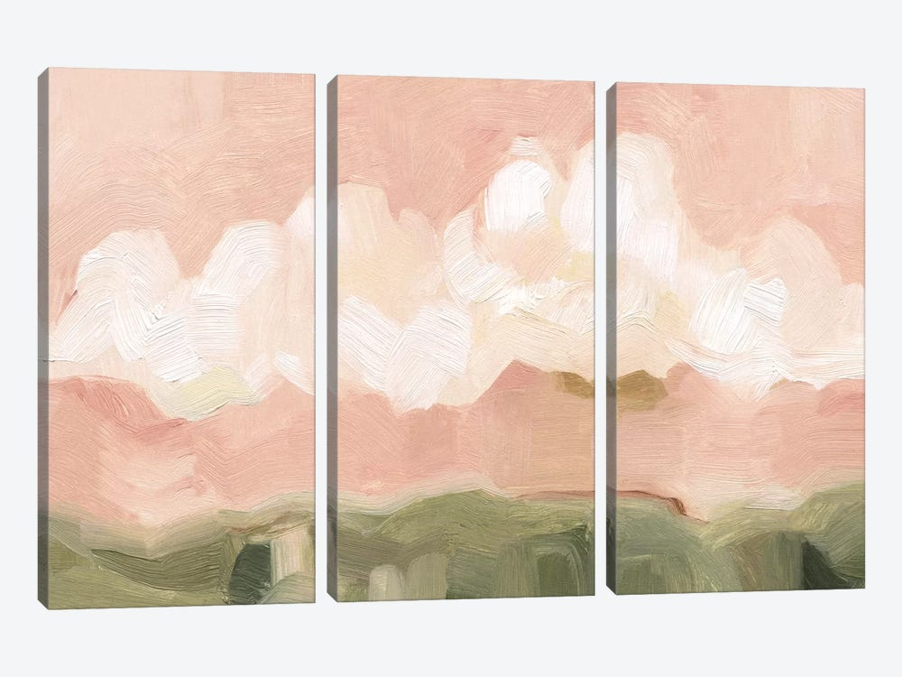 Pink Haze Sunset II by Emma Scarvey 3-piece Canvas Art