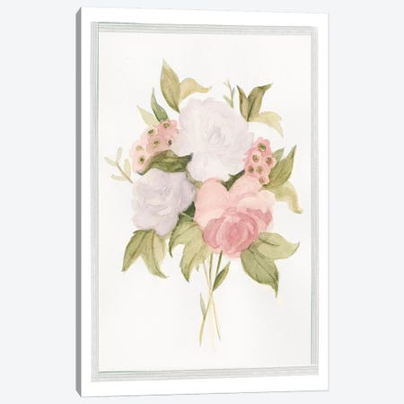 Soft Bouquet I Canvas Print #EMS80} by Emma Scarvey Art Print