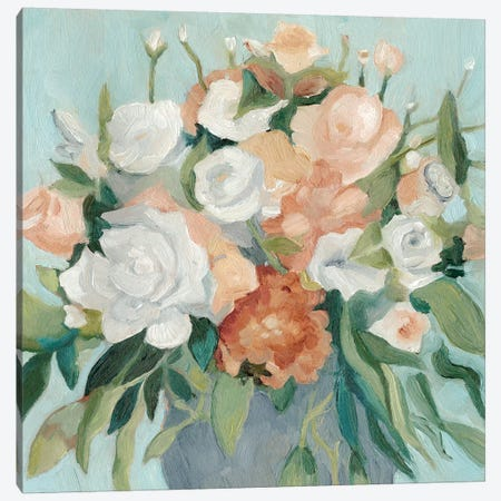 Soft Pastel Bouquet I Canvas Print #EMS82} by Emma Scarvey Canvas Print