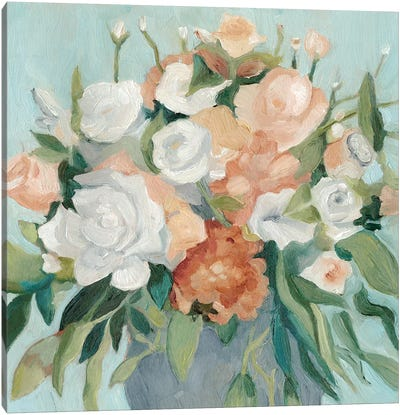 Soft Pastel Bouquet I Canvas Art Print