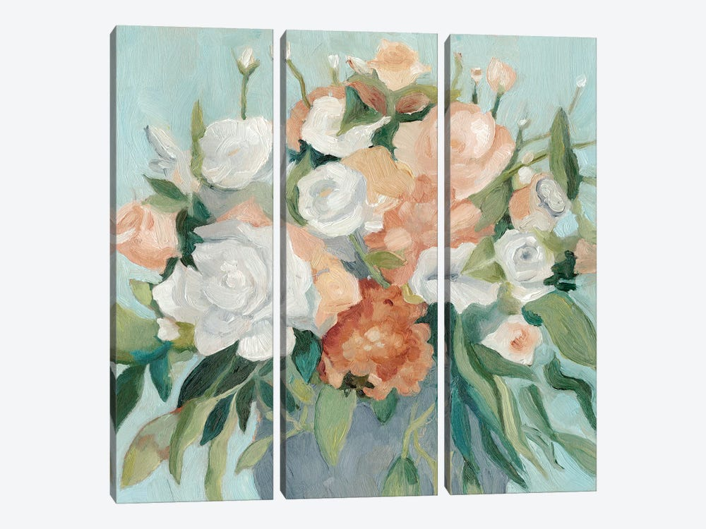 Soft Pastel Bouquet I by Emma Scarvey 3-piece Canvas Art