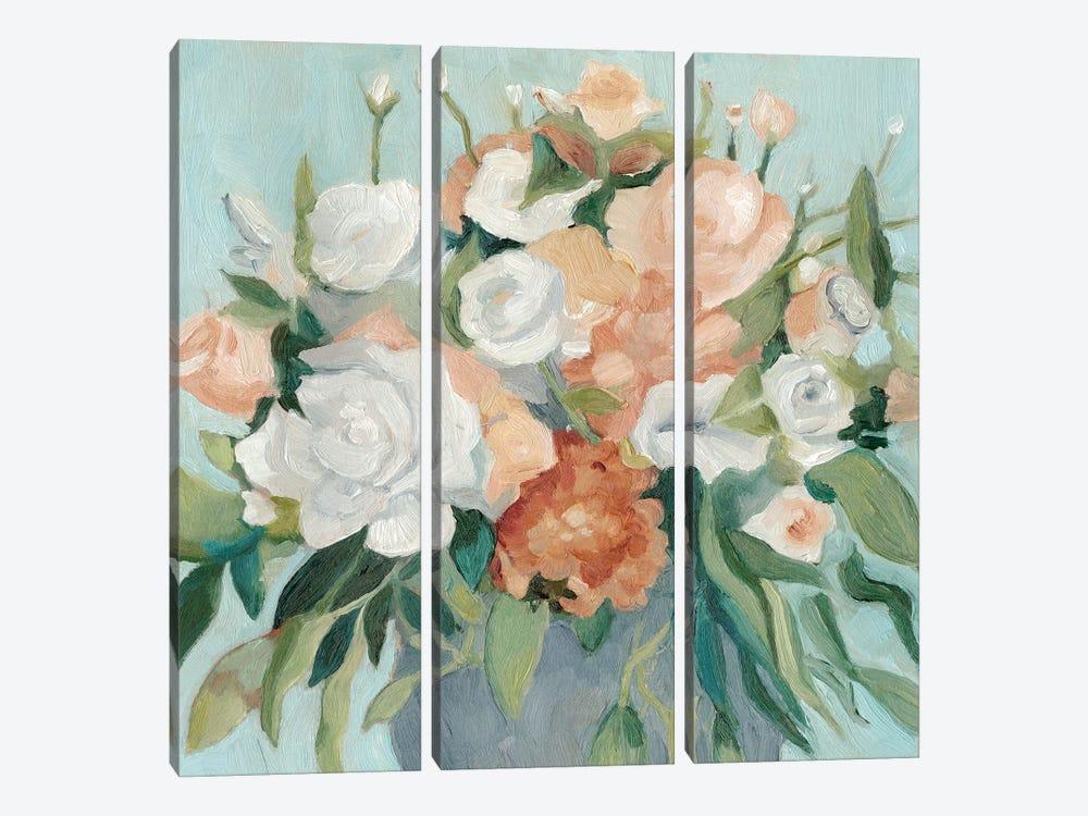 Soft Pastel Bouquet I by Emma Scarvey 3-piece Canvas Art