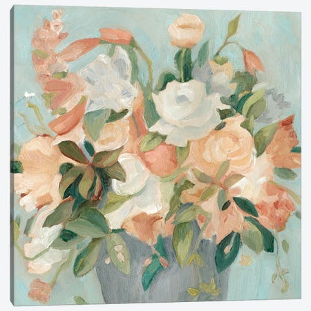 Soft Pastel Bouquet II Canvas Print #EMS83} by Emma Scarvey Art Print