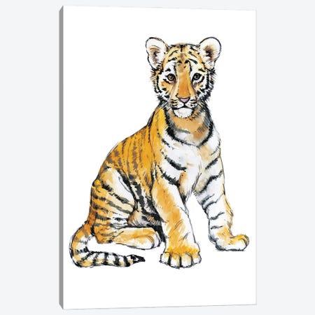 Baby Tiger Canvas Print #EMV9} by Elena Markelova Canvas Art Print