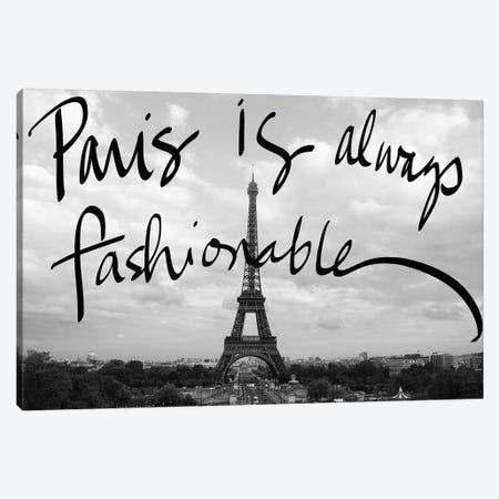 Fashionable Paris Canvas Print #ENA13} by Emily Navas Canvas Art