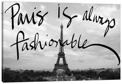 Fashionable Paris Canvas Art Print