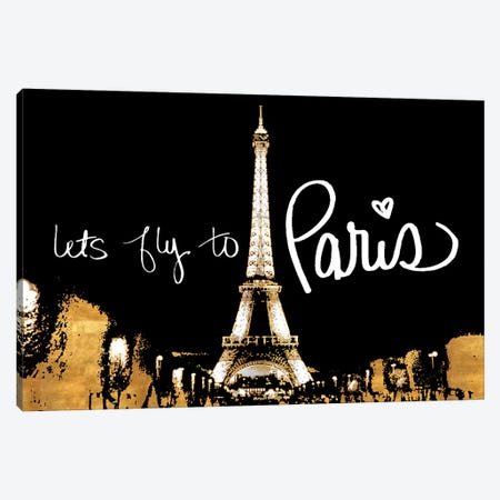 Let's Fly To Paris Canvas Print #ENA17} by Emily Navas Canvas Print