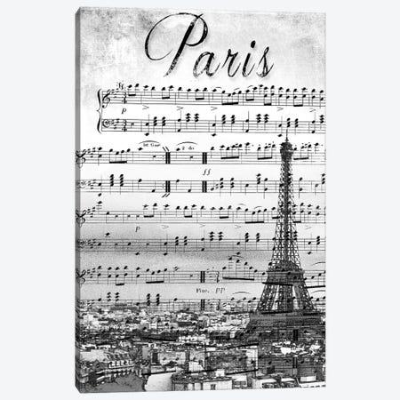 Musical Paris Canvas Print #ENA25} by Emily Navas Canvas Wall Art