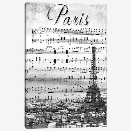 Musical Paris Canvas Print #ENA25} by Emily Navas Canvas Wall Art