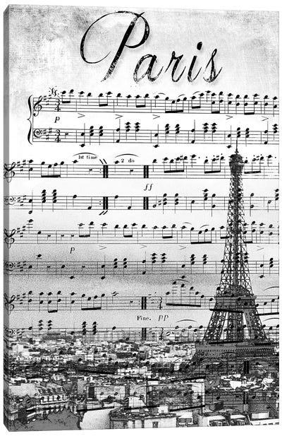 Musical Paris Canvas Art Print