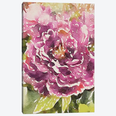 Purple Blossoms Canvas Print #ENA43} by Emily Navas Art Print