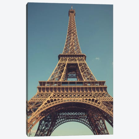 Vintage Eiffel Canvas Print #ENA49} by Emily Navas Canvas Art Print