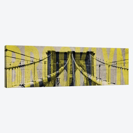Brooklyn Bridge Type Canvas Print #ENA4} by Emily Navas Canvas Print