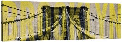 Brooklyn Bridge Type Canvas Art Print