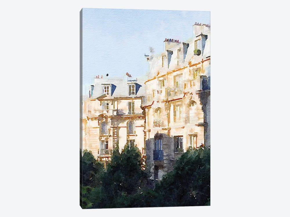 Watercolor Streets of Paris III by Emily Navas 1-piece Canvas Art