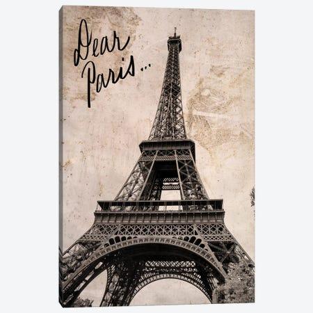 Dear Paris Canvas Print #ENA55} by Emily Navas Canvas Print