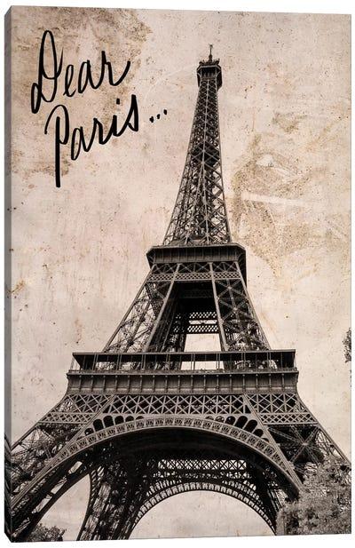 Dear Paris Canvas Art Print