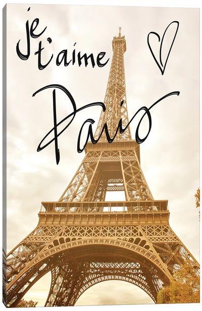 Je T'Aime Paris Canvas Art Print