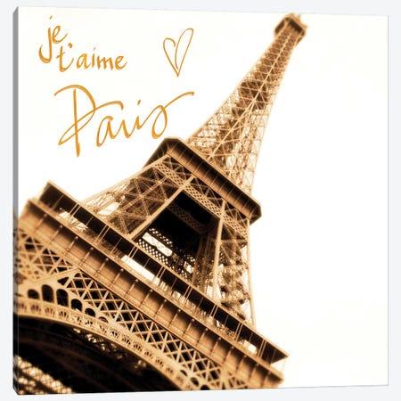 Je, T'Aime Paris Canvas Print #ENA58} by Emily Navas Canvas Wall Art