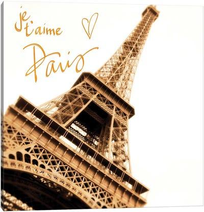 Je, T'Aime Paris Canvas Art Print
