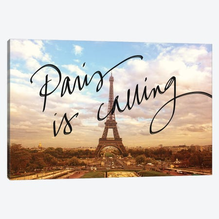 Paris Is Calling Canvas Print #ENA62} by Emily Navas Art Print