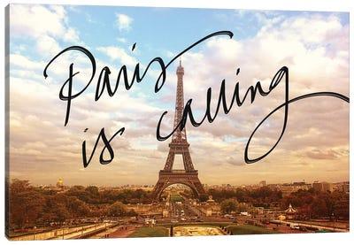 Paris Is Calling Canvas Art Print