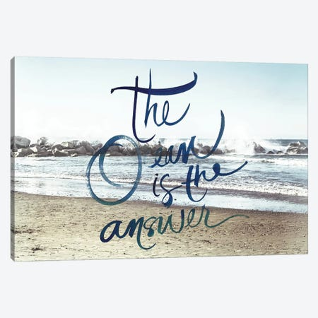 The Ocean Is The Answer Canvas Print #ENA66} by Emily Navas Canvas Wall Art