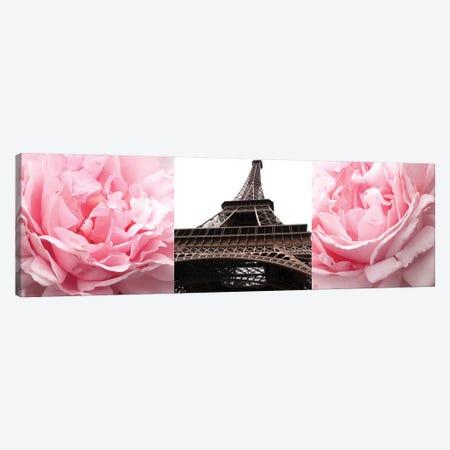 Pink Roses Eiffel Tower Canvas Print #ENA69} by Emily Navas Canvas Print