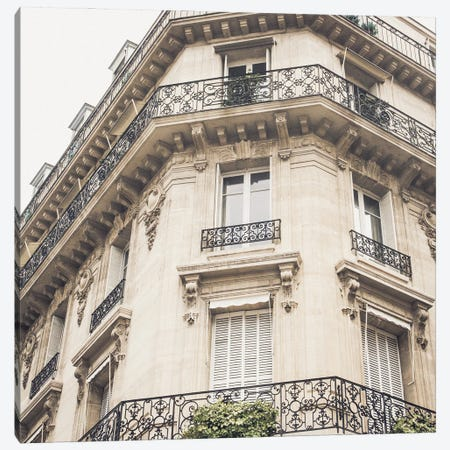 French Balcony I Canvas Print #ENA84} by Emily Navas Canvas Artwork
