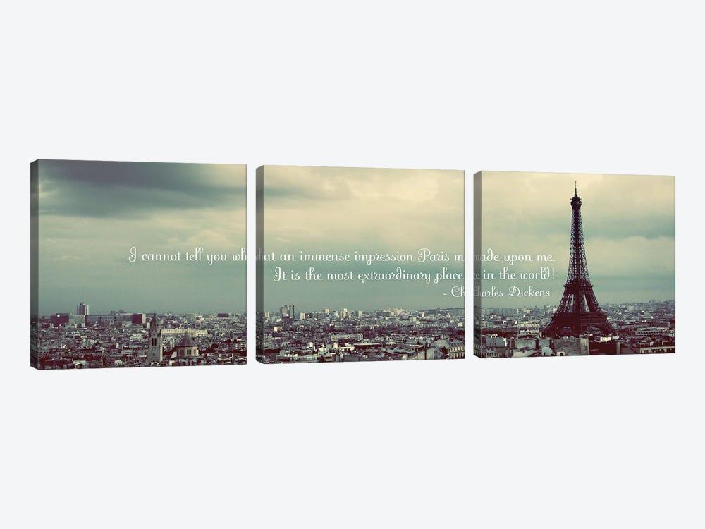 Immense Impression of Paris by Emily Navas 3-piece Canvas Print