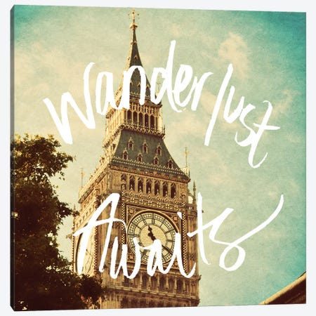 Wanderlust Awaits Canvas Print #ENA94} by Emily Navas Art Print