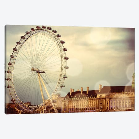 London Ferris Wheel Canvas Print #ENA99} by Emily Navas Canvas Wall Art
