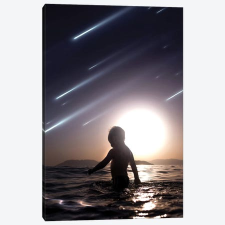 Falling Stars Canvas Print #ENP12} by en.ps Canvas Print