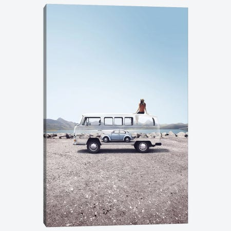 Folks Wagon Canvas Print #ENP14} by en.ps Canvas Wall Art