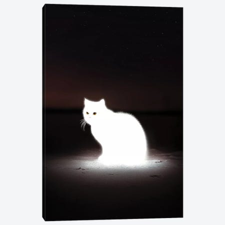 Glowing Cat Canvas Print #ENP16} by en.ps Canvas Artwork