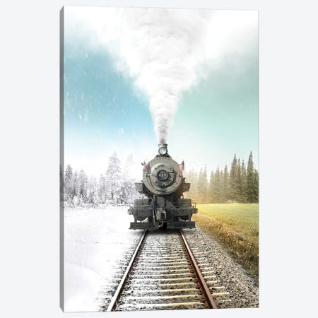 Heres My Station Canvas Print #ENP18} by en.ps Canvas Print
