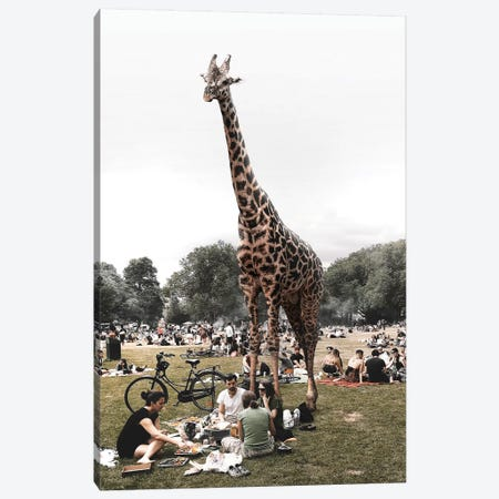 Saturday At The Park Canvas Print #ENP22} by en.ps Canvas Wall Art