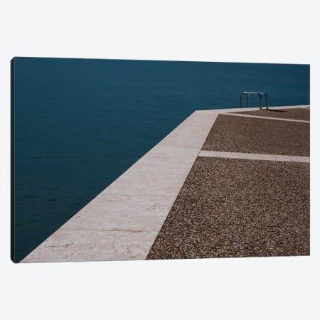 Only One Bathing Ladder Canvas Print #ENR4} by Rolf Endermann Art Print