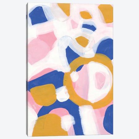 Pink Parade Canvas Print #ENS102} by EnShape Art Print