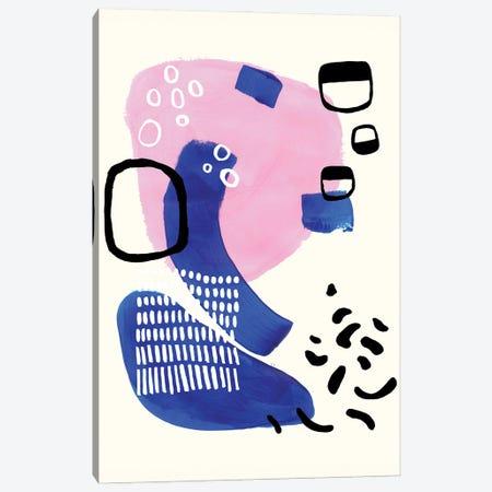Neon Pink Royal Blue Canvas Print #ENS124} by EnShape Canvas Artwork