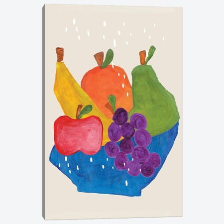 Fruit Bowl Canvas Print #ENS143} by EnShape Art Print