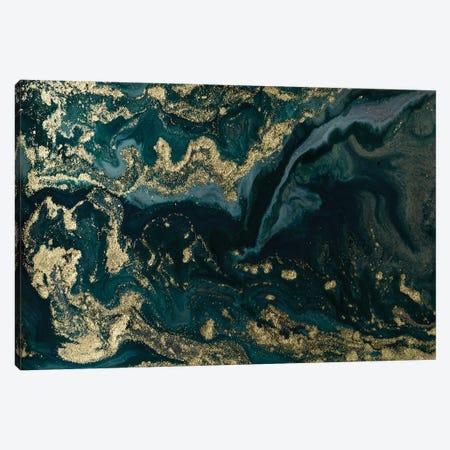 Gold Waves Marble Canvas Print #ENS14} by EnShape Canvas Art Print