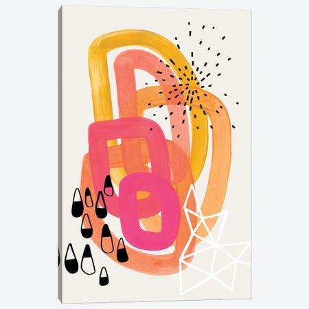 Retro 70's Party Canvas Print #ENS162} by EnShape Canvas Art Print
